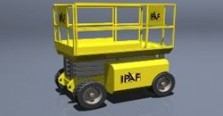 Yellow scissor lift